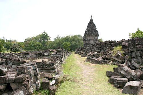 history  stone of the discovery of Prambanan temple  in Yogyakarta