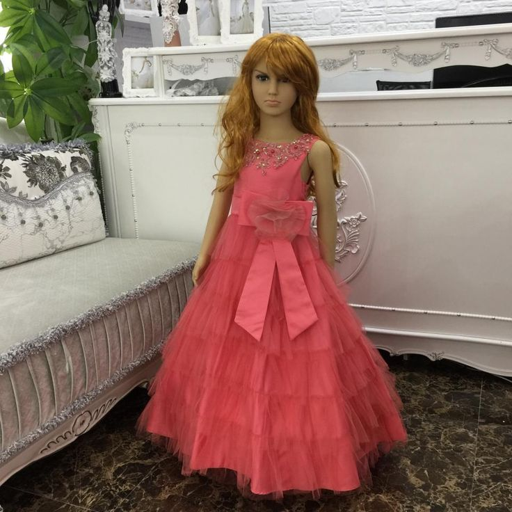 Ball Gown Flower Girl Dress 2015 New Arrival Carol Pageant Dress For Girls plus size Kids Dresses 5205 * This is an AliExpress affiliate pin.  Find out more on AliExpress website by clicking the image
