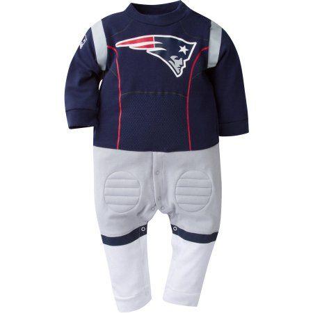 NFL New England Patriots Baby Boys Team Uniform Footysuit, Infant Boy's, Size: 12 Months, Blue