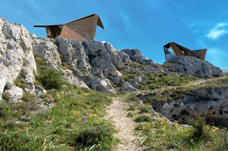 Corten Bird – NomAd Hotel room in Matera claudio catalano architecture&design