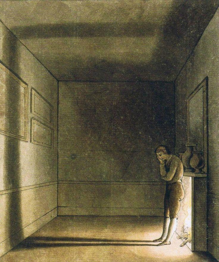 티슈바인 , <긴 그림자>. 고뇌와 외로움을 그림자로 가시화했다. 이 작품을 보고 예술가가 왜 예술가인지를 절실히 깨달을 수 있었다.