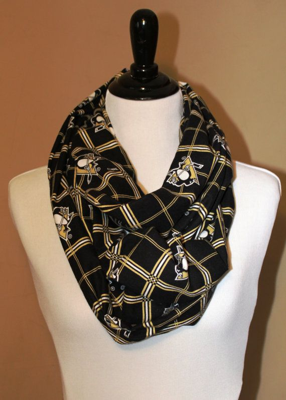 Pittsburgh Penguins Hockey Flannel Infinity Scarf