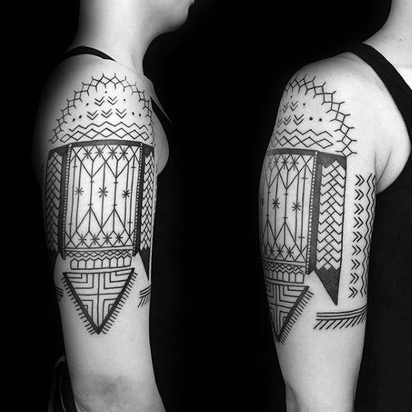Traditional Old School Filipino Tribal Tattoo Designs For Guys
