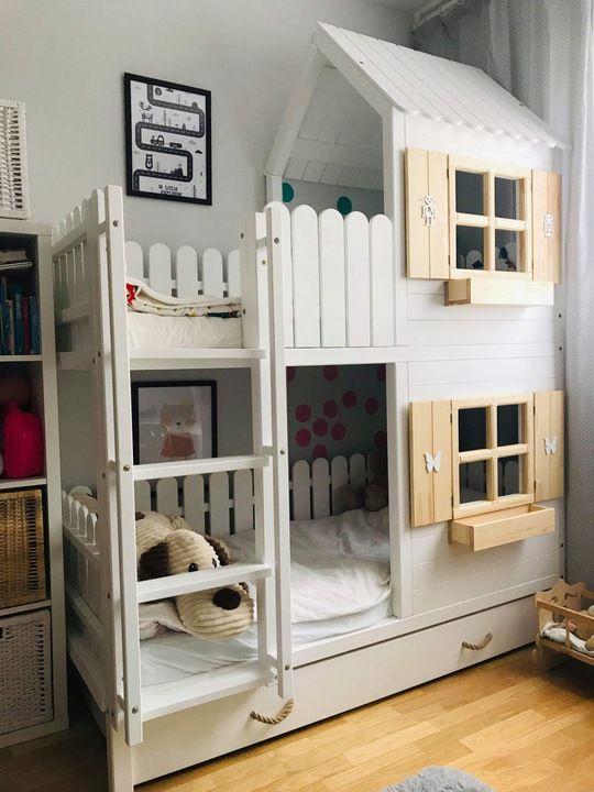 łóżko Piętrowe Domek 7672241950 Allegropl Więcej Niż Aukcje