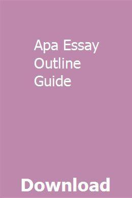 Essay outline online