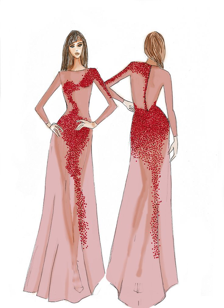 drawings by Magdalena Popiel #fashionilustration #fashiondrawings