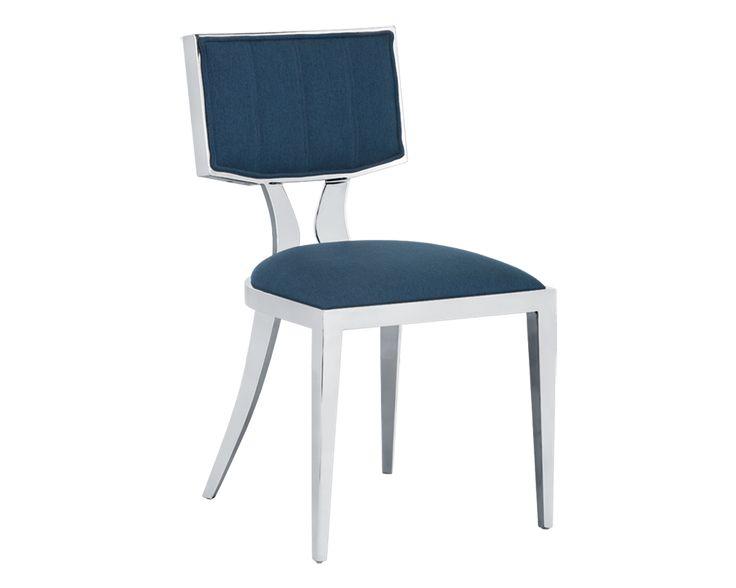 Kitchen - Chairs - Sunpan - Natalia Dining Chair - Fabric: Blue Velvet