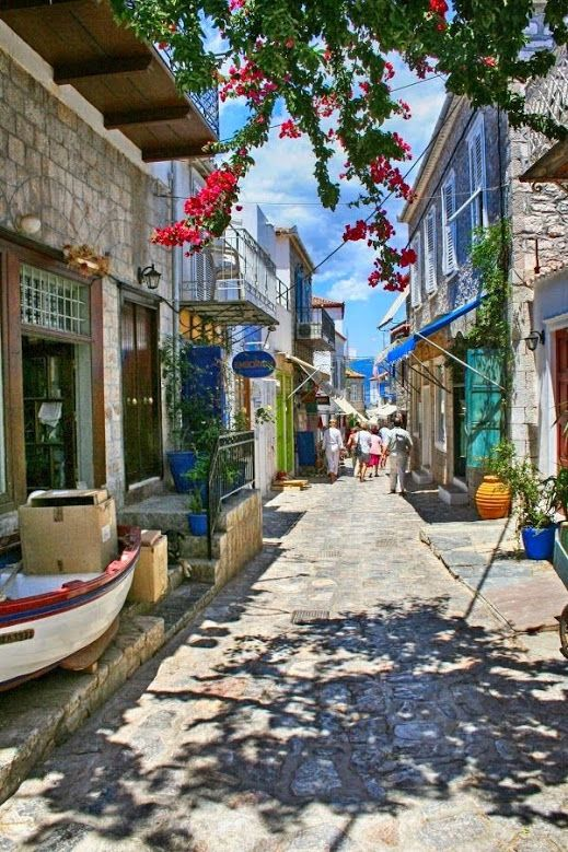 Streets of Hydra Island, Greece