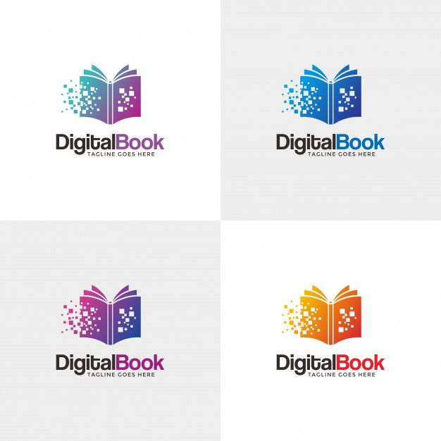 Digital Book Modern Book Logo Design Template For Your