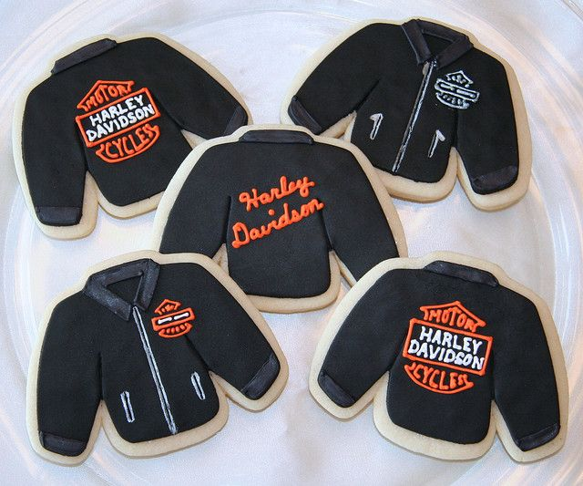 Harley Davidson Leather Jacket Cookies