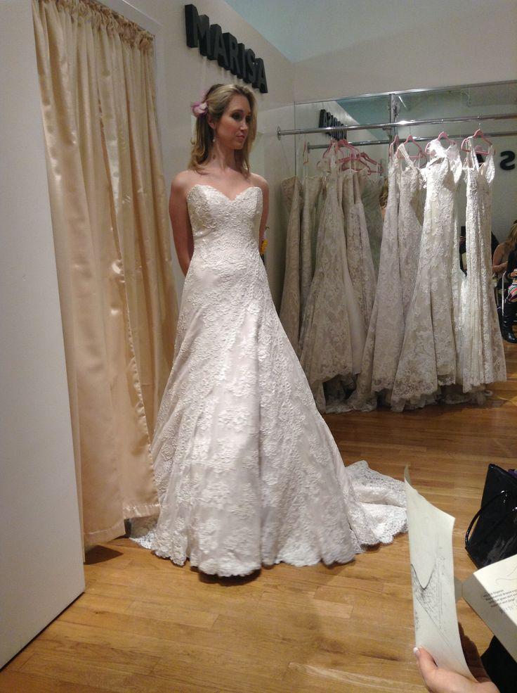 Marisa bridal gown, wedding gown, strapless, organza, ruched ...