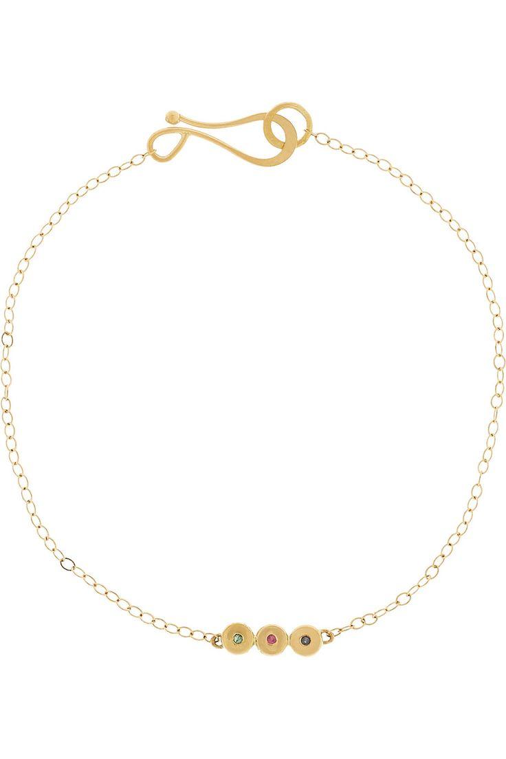 Melissa Joy Manning Bracelet en or 14 carats, émeraudes et saphirs  NET-A-PORTER.COM