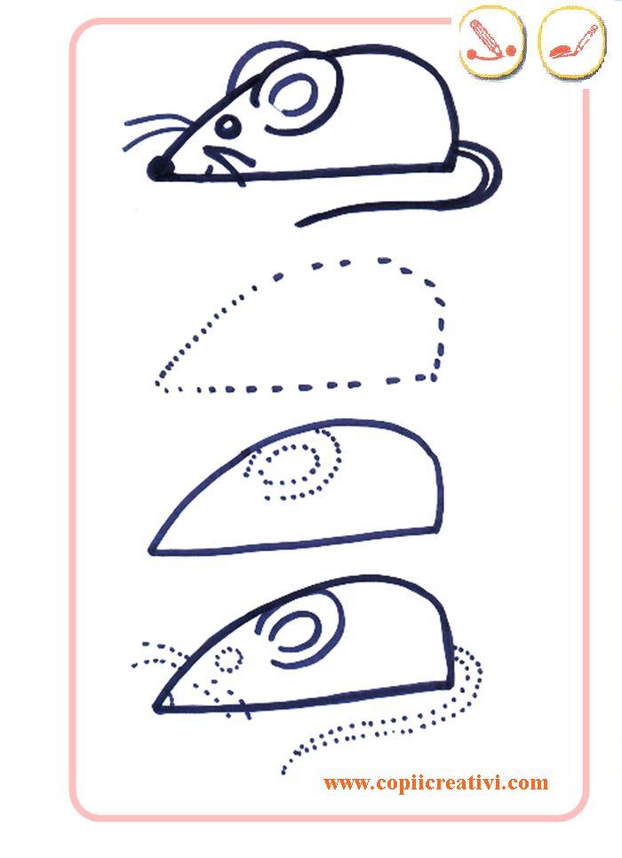Desenăm un ṣoarece o pisică ṣi un căteṭuṣ