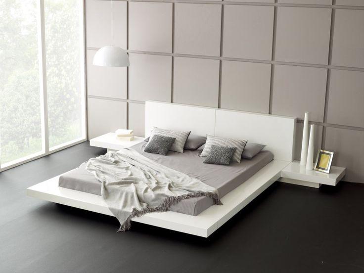modern platform bedroom sets with lights   Modern Wooden Platform Bed Frame For Brown Bedding Ideas With Dark ...