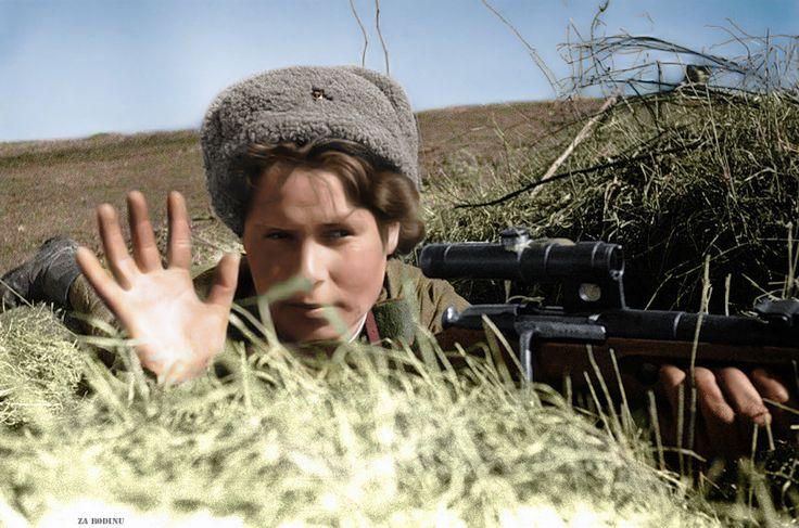 Red Army female sniper Baltic Front 1944 | par Za Rodinu