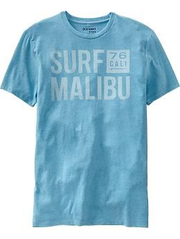 "Mens ""Surf Malibu"" Tees"
