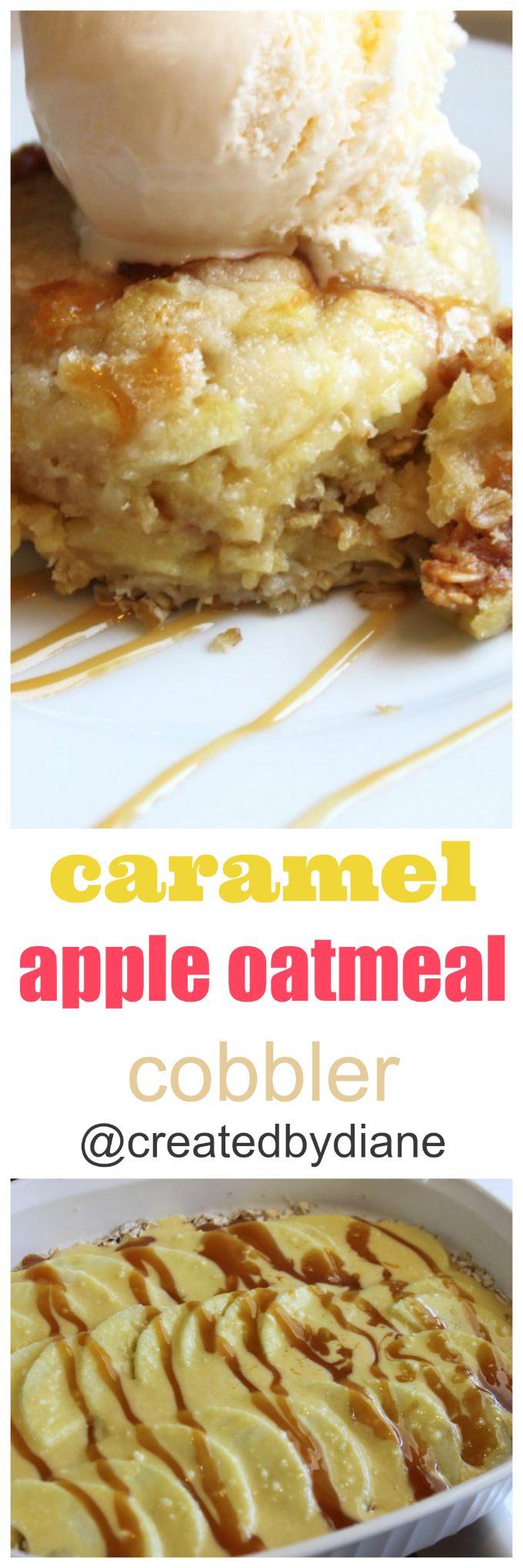 caramel apple oatmeal cobbler @createdbydiane
