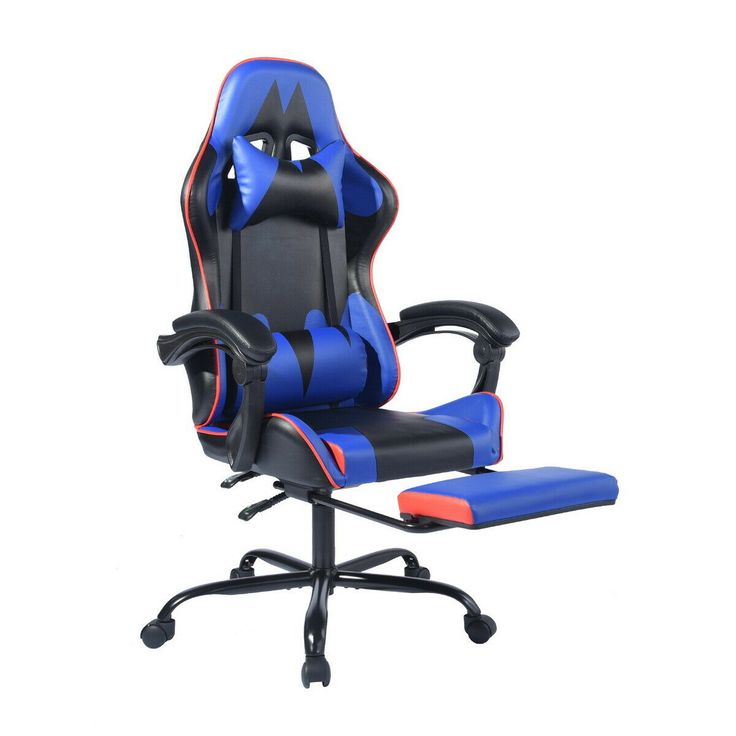 Details about ergonomic swivel gaming chair computer desk
