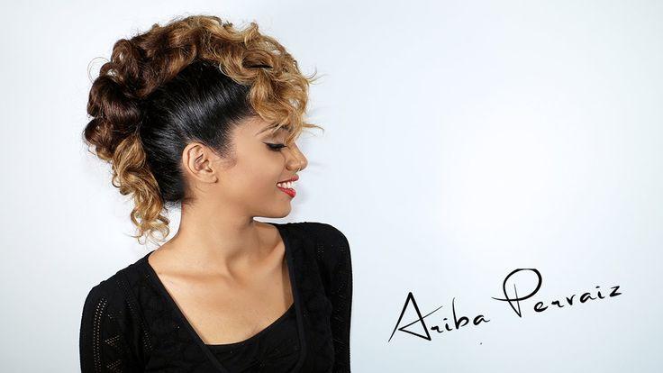 Curly Faux Hawk - Hair Tutorial | ARIBA PERVAIZ                                                                                                                                                                                 More