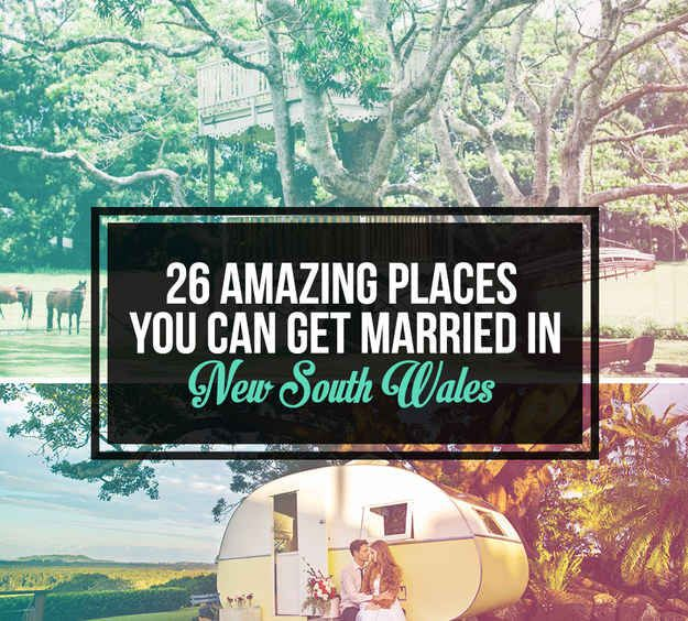 26 Amazing Places You Can Get Married In New South Wales