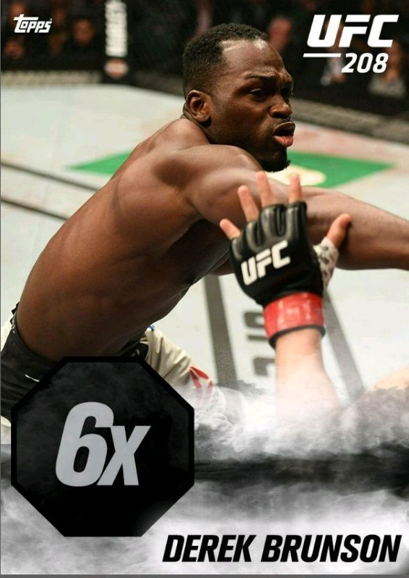 Topps UFC Knockout 16 UFC 208 KO Boost 6X Derek Brunson Digital Card