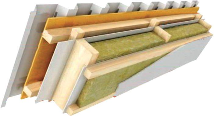Termolife czech republic insulated roof detail mineral 3 mineral wool insulation