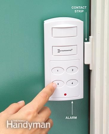 10 Safe Home Security Tips: Wireless home security systems for windows and doors rely on magnetic contact. Get the tips: http://www.familyhandyman.com/home-security/safe-home-security-tips/view-all