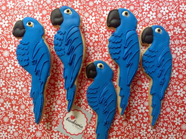 Exotic Bird, Parrot Cookies by Cookieria By Margaret