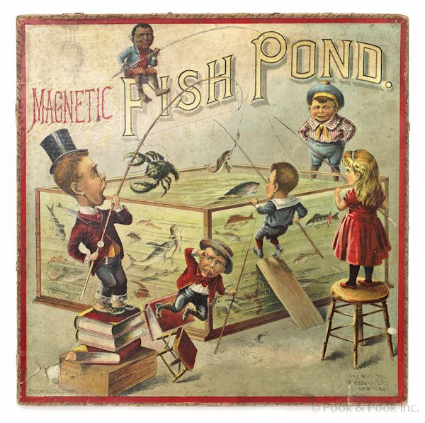 McLoughlin Bros. Magnetic Fish Pond board game, copyright 1891