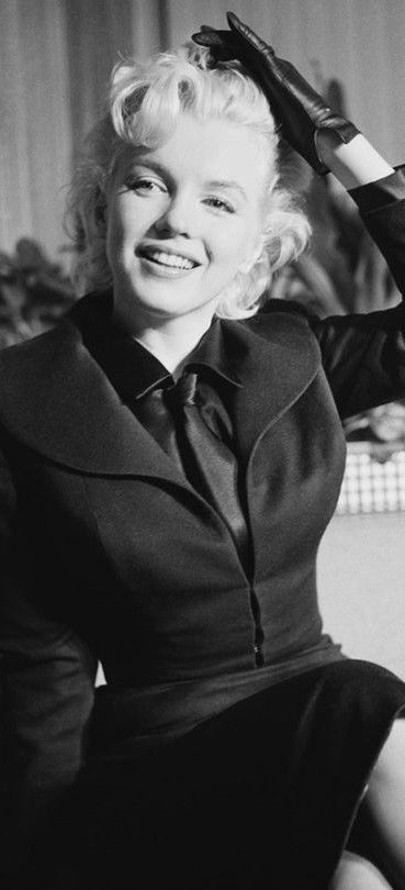 "Marilyn at a press conference for ""Bus Stop"" at the Los Angeles Airport Lounge, February 25th 1956."