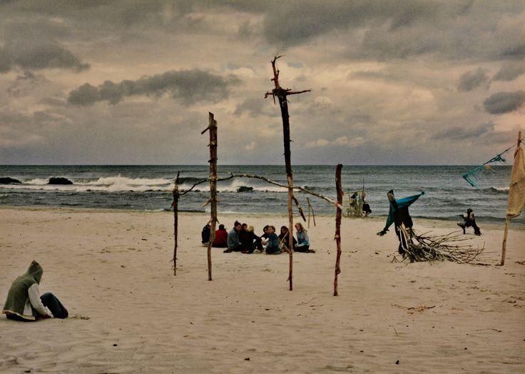 "Yury Ermolenko, ""LAST SUPPER"" (Land art project ""Baltic - Hel""), 2003, Hel Peninsula, Baltic Sea, Poland #YuryErmolenko #юрийермоленко #ЮрийЕрмоленко #yuryermolenko #юрiйєрмоленко #ЮрiйЄрмоленко #юрийермоленкохудожник #landart #balticsea #sea #sky #amazing #RapanStudio #photo #photography #metaphysics #metaphysical #philosophy #installation #лэндарт #инсталляция #art #contemporaryart #modernart #magic #texture #лэндарт #poland #hel #helpeninsula #artproject #искусство #creative"