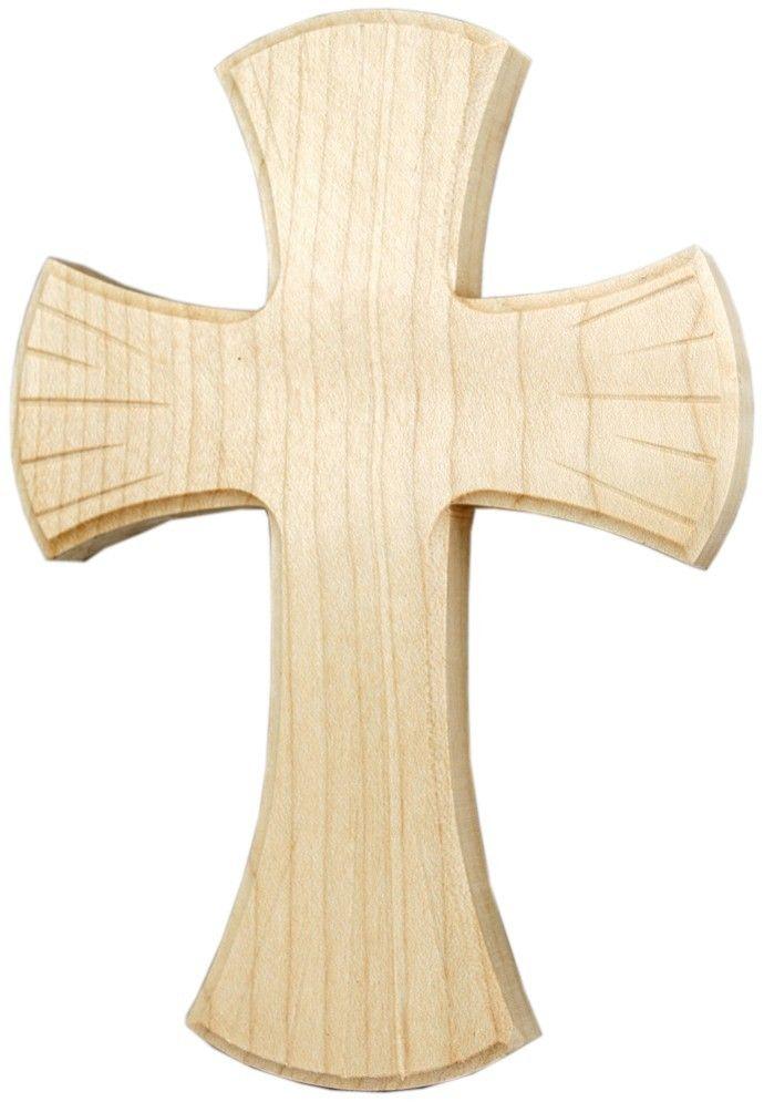 Holzkreuz Ahorn mit Lochbohrung 16 x 11,5 cm