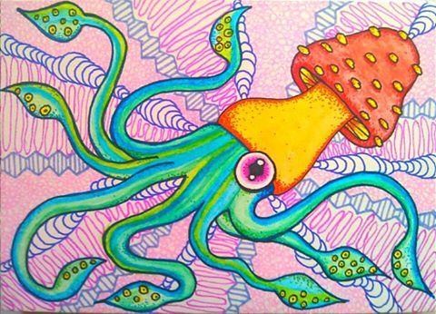 "Original art by Hallucinogenius  ""A hallucination is a species of reality...""- Terence McKenna https://www.facebook.com/HallucinogeniusVMJP https://twitter.com/shelly_love13 hallucinogeniusvmjp.tumblr.com https://instagram.com/hallucinogeniusvmjp/ http://hallucinogeniusvmjp.deviantart.com/ http://shellylove13.wix.com/hallucinogenius #psychedelic #quotes #mckenna #Terencemckenna #squid #tentacles #mushrooms #shrooms #trippy #drugs #lsd #mescaline #psiolocybin #lsd"