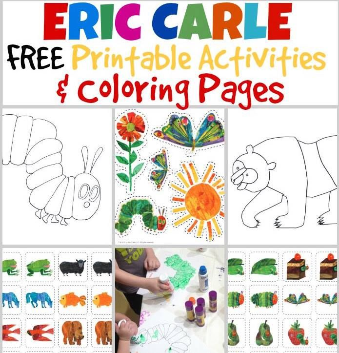 """""""FREE ERIC CARLE COLOURING PAGES:  We LOVE Eric Carle! Print these off, and keep them handy http://snip.ly/Eqt3?utm_content=buffer91374&utm_medium=social&utm_source=pinterest.com&utm_campaign=buffer"""""""