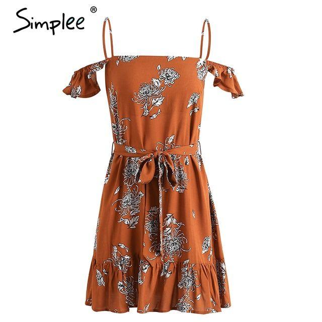 Simplee Старинные рябить печати пляж летнее платье женщин кружева спинки сексуальное платье холодный цветок платье свадебные платья сарафан