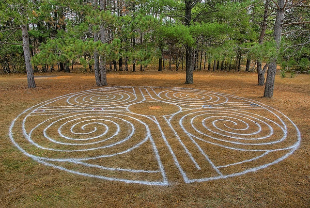 Quadruple Spiral Romanesque Labyrinth | Flickr - Photo Sharing!