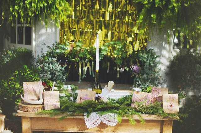 Bride and groom tables