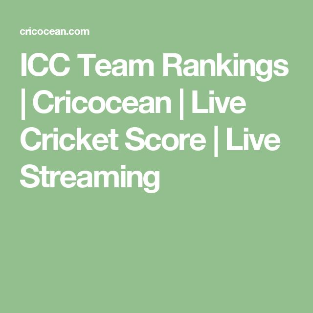 ICC Team Rankings | Cricocean | Live Cricket Score | Live Streaming