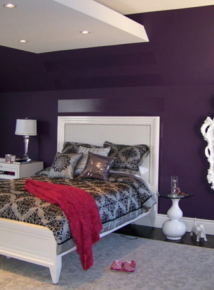 M s de 25 ideas incre bles sobre cuartos de ba o de color for Deep purple bathroom ideas