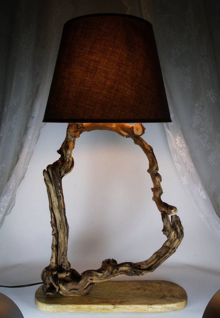 11 best images about wood lamps and furniture on pinterest - Hand made lamps ...