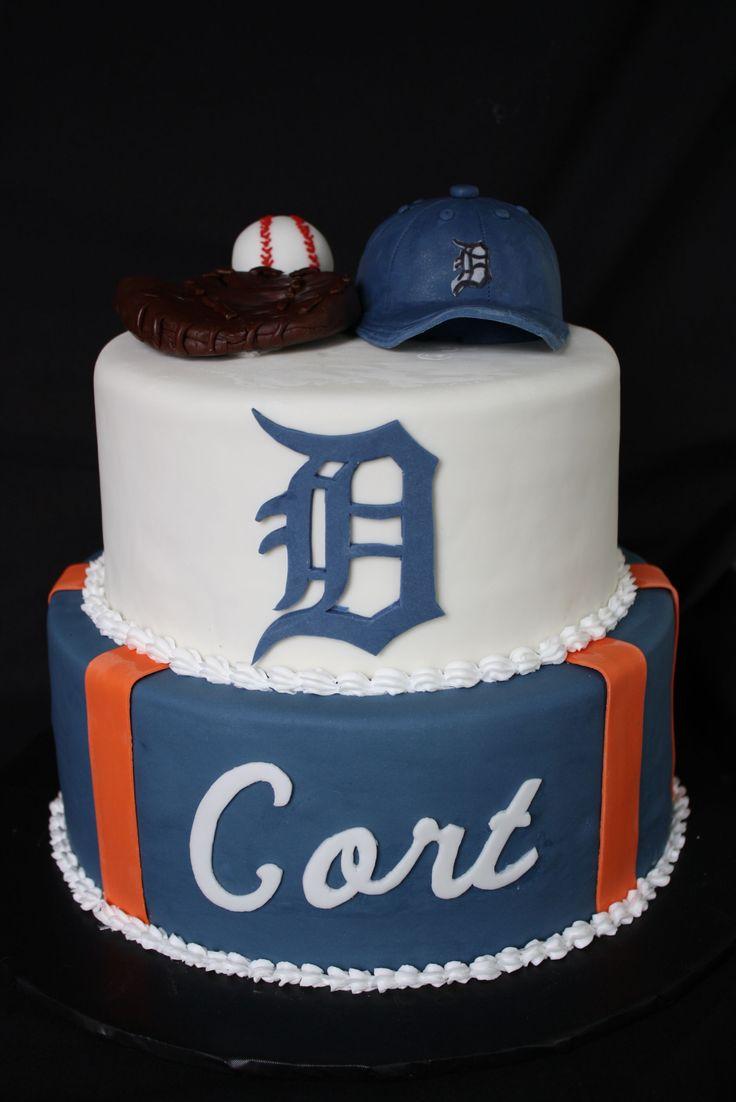 - Detroit Tiger logo birthday cake, tfl