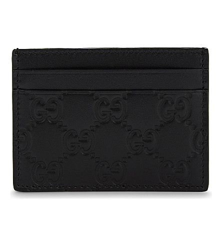 GUCCI Mistral Leather Card Holder. #gucci #purses and pouches