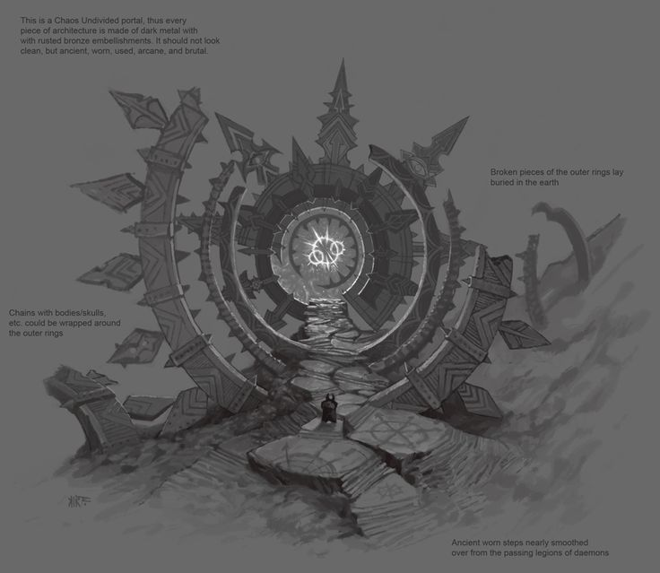 ::strange though this realm is, it is littered with gateways to darker, more incomprehensible dimensions::   Jonathan Kirtz - Warhammer Online - Chaos Portal.png