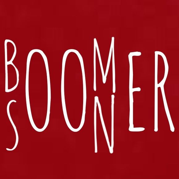 Boomer Sooner! Would be cute to do on canvas or with wood blocks.