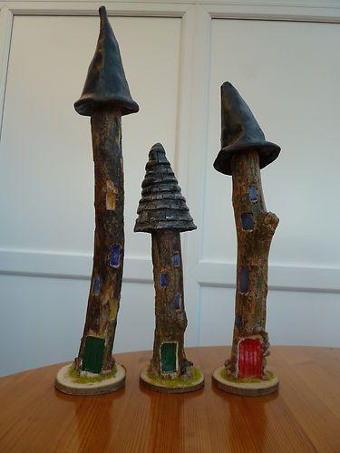 Handmade fairy castles