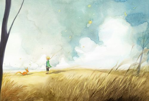 Beautiful The Little Prince illustrations by korean illustrator Kim Min Ji for her remake of the book.