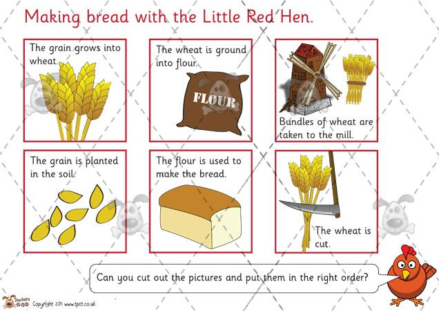 Teacher's Pet Activities & Games » The Little Red Hen ...