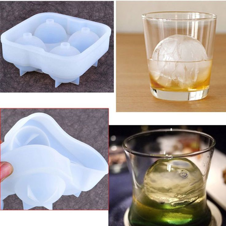 Silicone Whiskey Ice Cube Ball Mold Sphere Mould Party Round  Ice Cube Tray