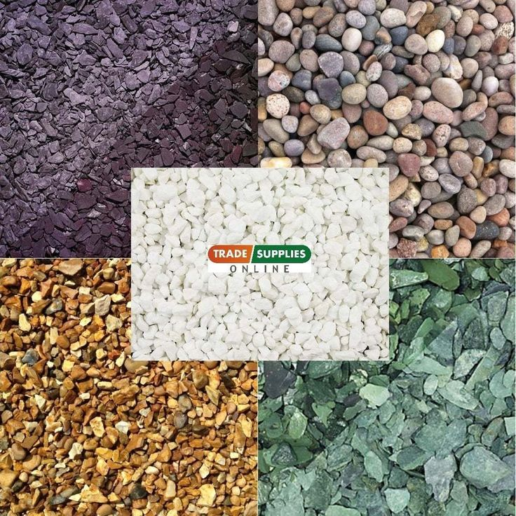 VARIOUS Decorative Aggregate Slate Chippings Gravel Landscaping Gardens 25KG Bag
