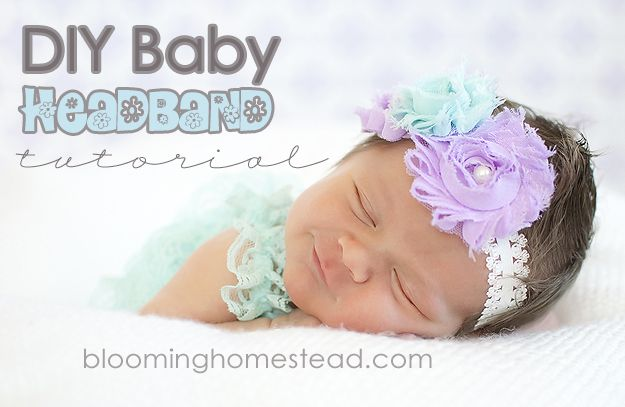 Baby Headband tutorial at Blooming Homestead